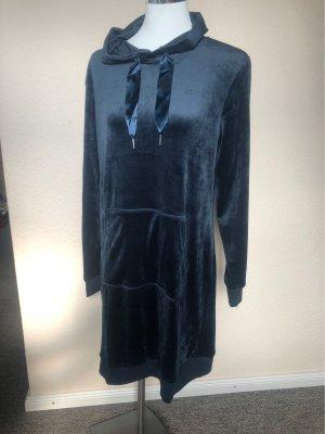 Unbekannte Marke Vestido de tela de sudadera azul