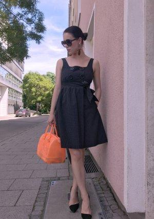 Kleid Tibi New York Gr. 34 XS (4) schwarz Etuikleid Fit&Flare Wickelkleid