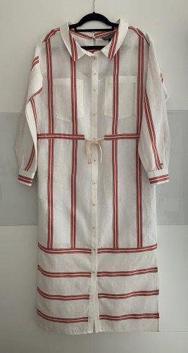 Tommy Hilfiger Abito blusa camicia bianco-rosso