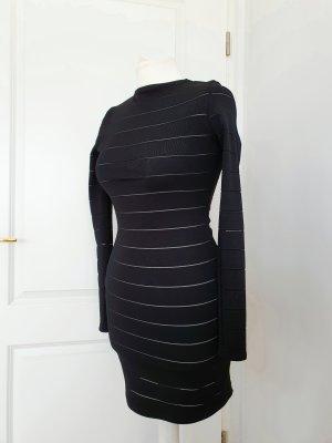 Kleid Topshop eng gestreift schwarz 34