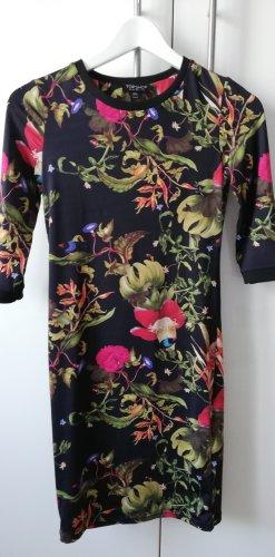 Kleid Topshop schwarz Blumen Party 36