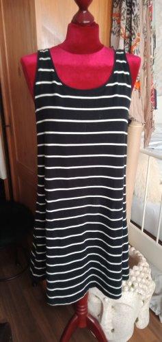 B.young Vestido de Verano negro-blanco Algodón