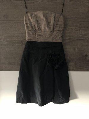 Kleid trägerlos schwarz/braun Gr. 32
