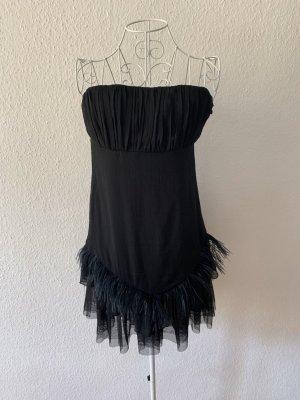 Kleid trägerlos schwarz, Gr. 36