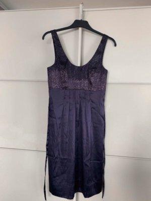 Kleid Tunika 34 Hallhuber Seide Pailetten