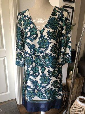 Kleid Tunika dunkelblau Print Gr. 34 XS