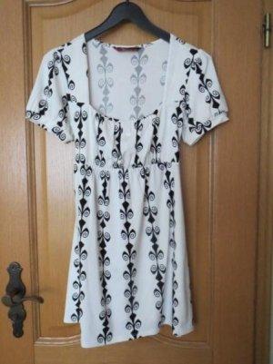 Kleid, Tunika, Gr.36/38, schwarz-weiß, neu