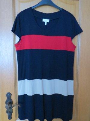 Kleid, Tunika, Gr.42/M, marine-rot-beige