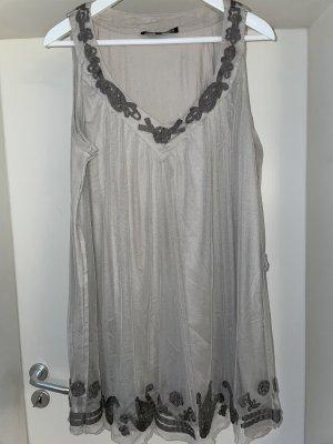 Sukienka tunika jasnoszary-szary