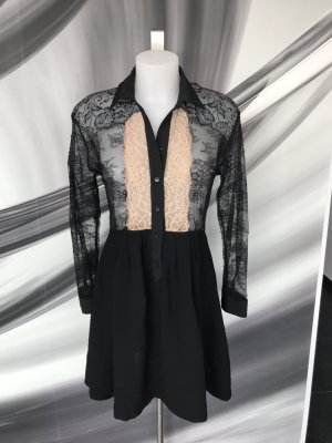 Kleid/Tunika teilweise aus spitze