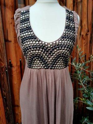 Kleid Tunika Vintage Pailletten tailliert Gr. XS S