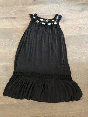 Kleid Tunika Viskose schwarz S-XL