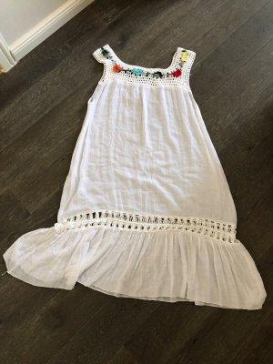 Ohne Sukienka tunika biały Wiskoza