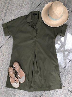 Antonelli Firenze Sukienka tunika oliwkowy Bawełna