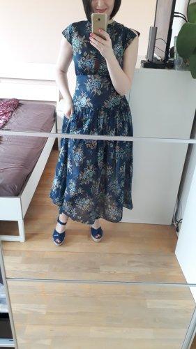 Kleid TWIN SET, blau/dunkelblau, Größe It.42/DE 36, 100% Baumwolle, Neu mit Etikett