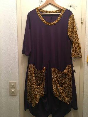 Sukienka z rękawem balonowym Wielokolorowy Tkanina z mieszanych włókien