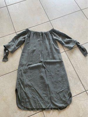 Kleid Unisex Kaki Offsholder