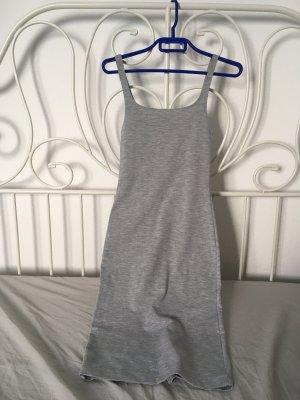 Zara Falda estilo lápiz gris claro-color plata