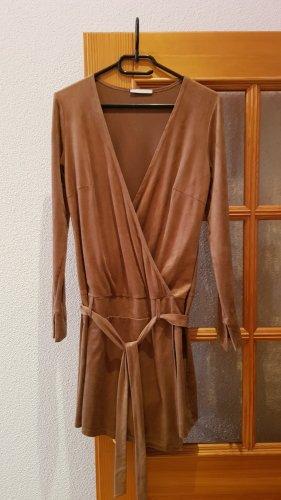 3 Suisses Vestido cruzado marrón claro-camel