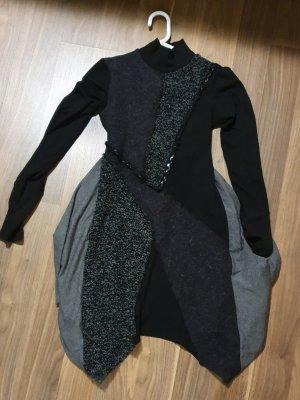 Rinascimento Vestito di lana nero-grigio