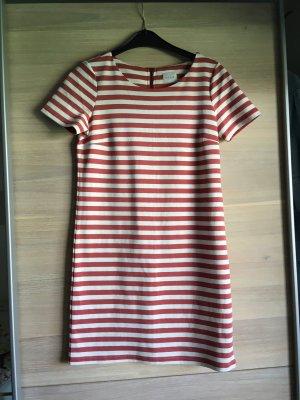 Vila Sukienka typu babydoll w kolorze białej wełny-jasnoczerwony