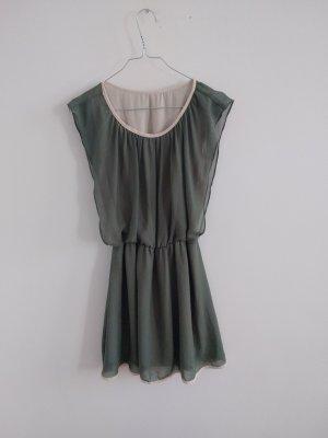 Kleid vintage olive / beige