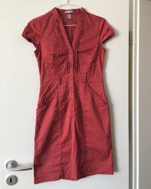 Kleid Vintage Style rot Knöpfe Hippies boho