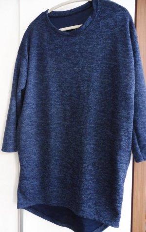 Swetrowa sukienka ciemnoniebieski-stalowy niebieski
