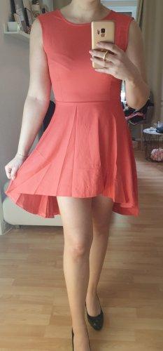 Kleid vokuhila coral rot S NEU Hochzeit
