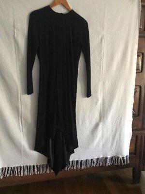unbekannte Asymetryczna sukienka czarny Wiskoza