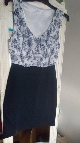 Kleid Volant blau flower blumen S 36