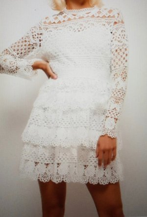 Flounce Dress natural white-white