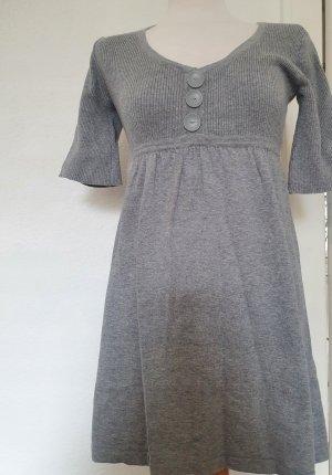 Melrose Vestido de tela de sudadera gris claro