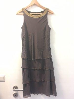 1.2.3 Paris Robe de soirée marron clair-doré