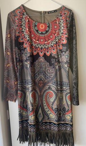 101 Idees Vestido con flecos multicolor