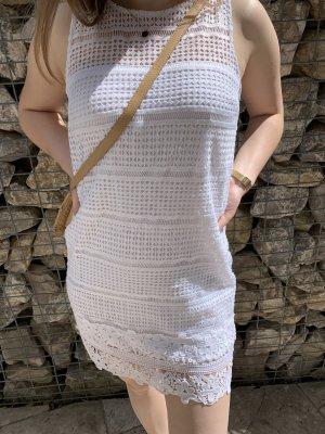 Abercrombie & Fitch Mini-jurk wit Katoen