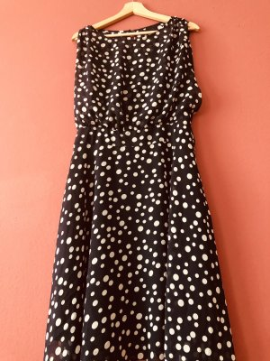 Adrianna Papell Volante jurk donkerblauw-wit