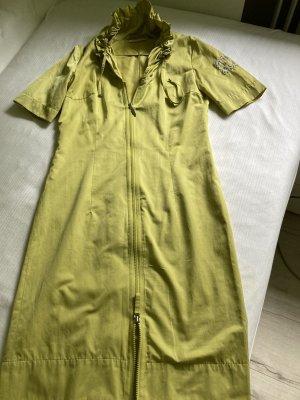 Airfield Blouse Dress grass green viscose