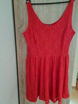 AJC Vestido de encaje rojo-rojo ladrillo