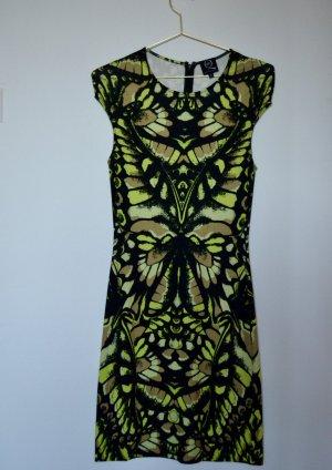 Alexander McQueen Shortsleeve Dress multicolored cotton