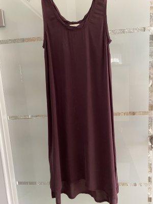 American Vintage Robe d'été bordeau-gris lilas
