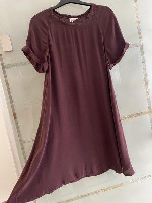 American Vintage Robe à manches courtes bordeau-gris lilas