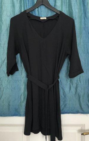 American Vintage Robe à manches longues noir viscose