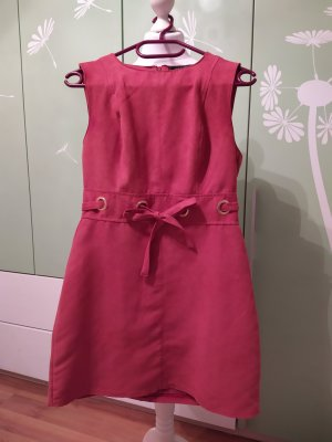 Amisu Leather Dress salmon