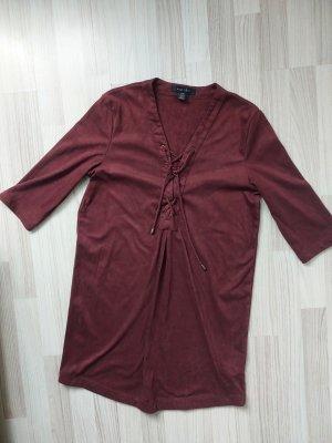 Amisu Robe en cuir bordeau