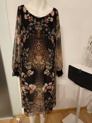 Kleid von Ana Alcazar Gr 38 40 M Leoparden Blume