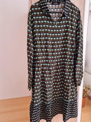 Aniston Casual Sukienka z długim rękawem cognac-jasnoniebieski
