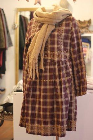 Aniston Robe à manches longues multicolore coton