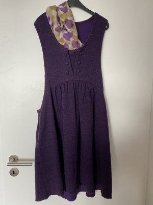 Anna Sui Midi Dress dark violet