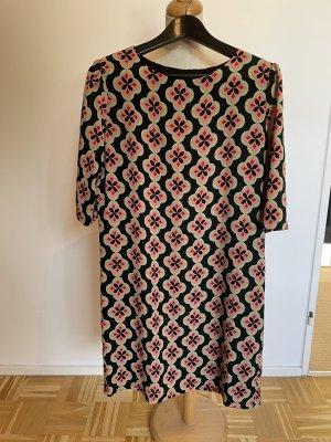 Anonyme Designers Midi-jurk zwart-roze